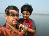 With Dad on a backwater cruise