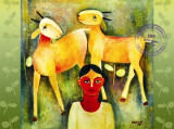 Boy and Goats by Mohit Naik.