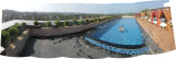 View of rooftop pool.
