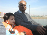 With Nanu in the paddle boats