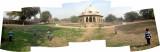 Outside of Isa Khan tomb.