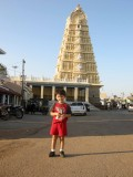 Chamundi Temple, high above Mysore.  Home to many monkeys and a few puppies.