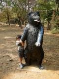 Brindavan Garden kids' area.  Filled with animals, like this bear ...