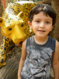 ... leopard (note shirt)