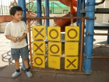 Rahil's first win at tic tac toe.
