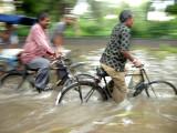 Monsoon cyclists