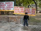 Camera Signs Outside Qutab Minar, New Delhi