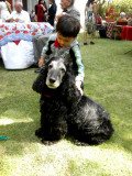 Rahil and one of Geeta Auntie's relative's dogs in New Delhi (2009)