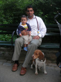 Rahil, Rahul, and Cleo in Central Park (2007)