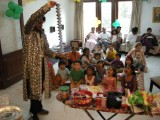 Magician at Rahil's birthday party