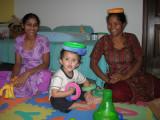 Clowning around with Jyoti and Anna