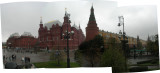 View of The State Historical Museum (left) and Kremlin (center and right)
