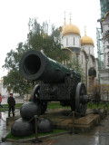 40 Ton Tsar Cannon with Cathedral Square in background