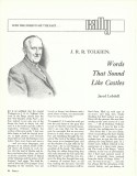 Page 1 of Tolkien article (Rally, Aug. 1966)