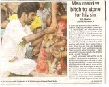 Man Marries Bitch (Hindustan Times, 12 November 2007