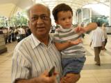Meeting Nanu at the Bombay airport.