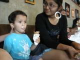 With his first-cousin Malika at Hard Rock Cafe