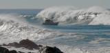 Coast Guard Motor Lifeboat vs. big wave