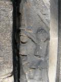 Duddingston Church old entrance carved detail
