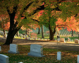 1280x1024 Arlington Cemetery in Fall