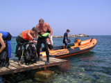 Getting ready to dive with Turtle Bay