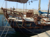 Woodwork on a Cyprus boat