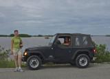 Jeep we borrowed in Progreso