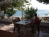 Our morning breakfast table.  We had a typical Turkish breakfast with an unbeatable view.
