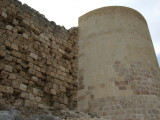 Here you can see a big contrast between part of the castle that has been renovated, and part in it's natural state.