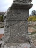 Stone marker at Uzuncaburc--I have no idea what it says.