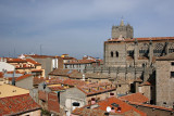 Ávila - rooftops and Cathedral