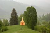 Ghimeş Valley - wooden church in Aldămas