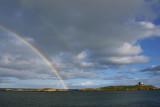 Double rainbow, Dalkey Island