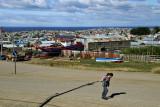 Against the wind, Punta Arenas