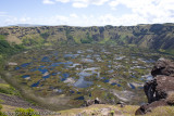 Volcano crater, Rano Kau
