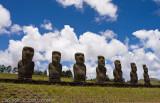 More of the Ahu Akivi Moai