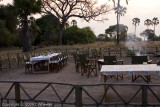 The chairs are around the campfire for sundowners, roasted cashews and then dinner.