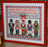 Nutcracker sampler cross stitch