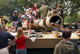 Abrams tank display
