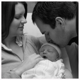 Cathy, Casey and Zachary (14 hours old)