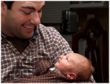 Father and Son Zachary at 10 days!