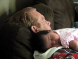 Nicole Napping with Great Uncle Jerry