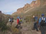 Heading out of camp on morning two