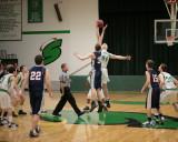 Seton Catholic Central High School's Boys Basketball Team versus Chenango Forks High School in the Section IV Tournament