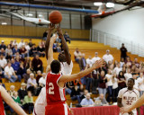Johnson City vs Red Hook in the State of New York High School Playoffs in Basketball