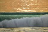 Wave crashing at Malibu Beach