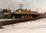 Dixon Illinois Depot late 70s early 80s  Chicago  North Western RR Depot. Photo By Jim Cook.JPG
