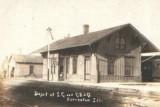Forreston, Illinois Depot  Illinois Central Depot.