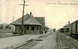 Freeport Illinois Depot c1910  Illinois Central  Chicago  North Western Railroad Depot.JPG