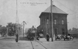 Sycamore Illinois Depot c1930  Chicago  North Western Railroad Depot.JPG